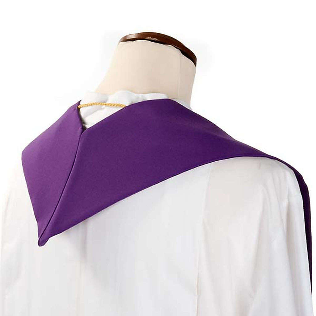 Liturgical stole with golden cross ear of wheat and grapes  4