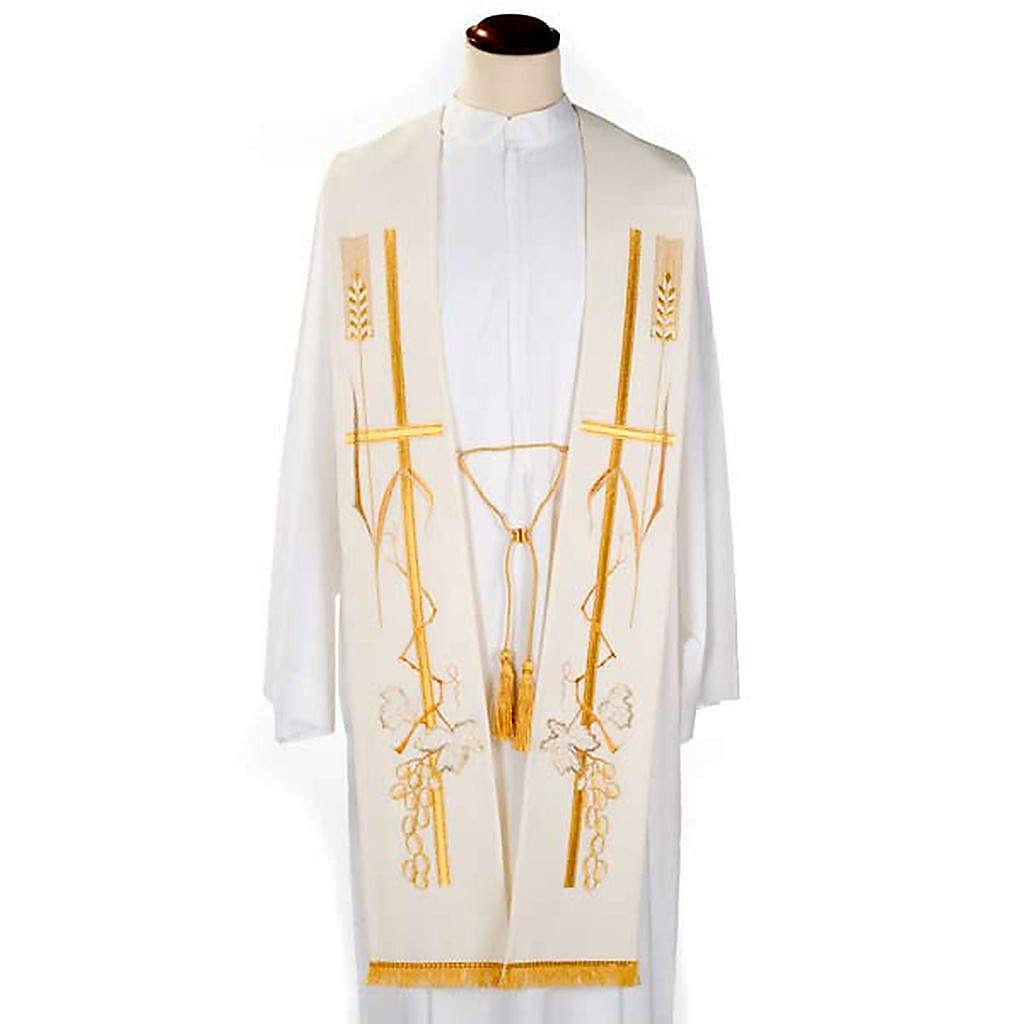 Étole de prêtre croix épi raisin 4