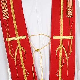 Étole de prêtre croix épi raisin s4