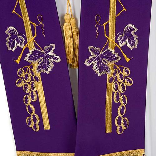 Étole de prêtre croix épi raisin 6