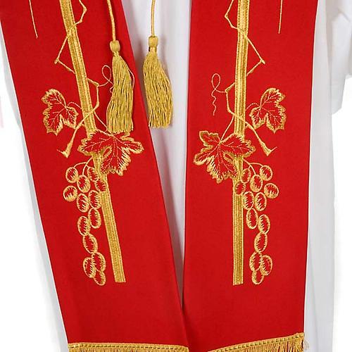 Étole de prêtre croix épi raisin 7