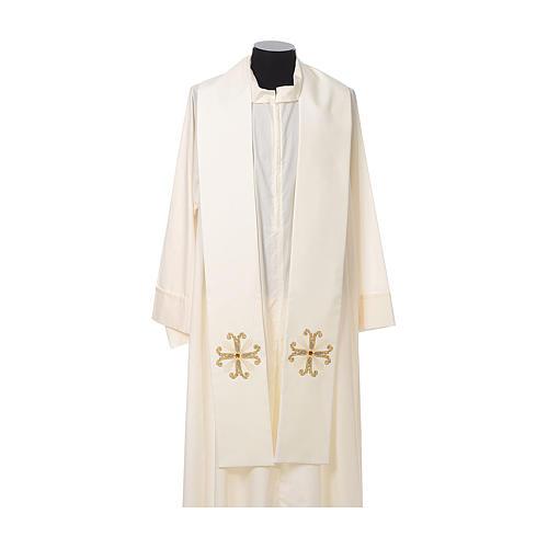 Étole de prêtre croix et perle en verre 4