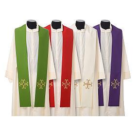 Stola sacerdotale croce con perlina vetro s1