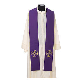 Stola sacerdotale croce con perlina vetro s5