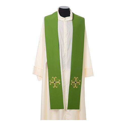 Stola sacerdotale croce con perlina vetro 2