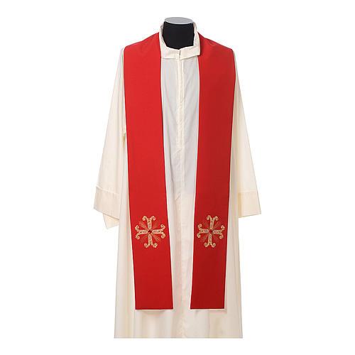 Stola sacerdotale croce con perlina vetro 3
