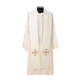 Stuła kapłańska krzyż z perełką szklaną s4