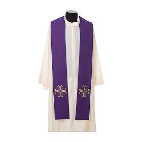 Stuła kapłańska krzyż z perełką szklaną s5
