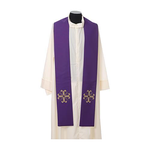 Stuła kapłańska krzyż z perełką szklaną 5