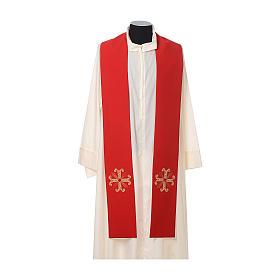Estola sacerdotal cruz com conta vidro s3