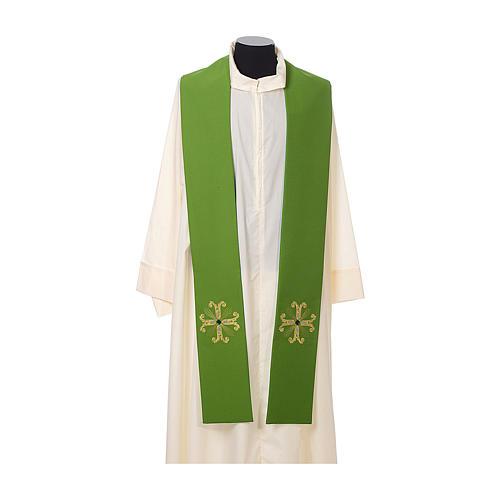 Estola sacerdotal cruz com conta vidro 2