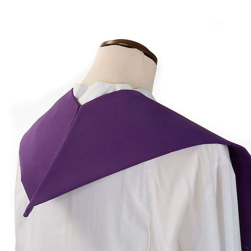 Liturgical stole with chalice and grapes embroidery 4