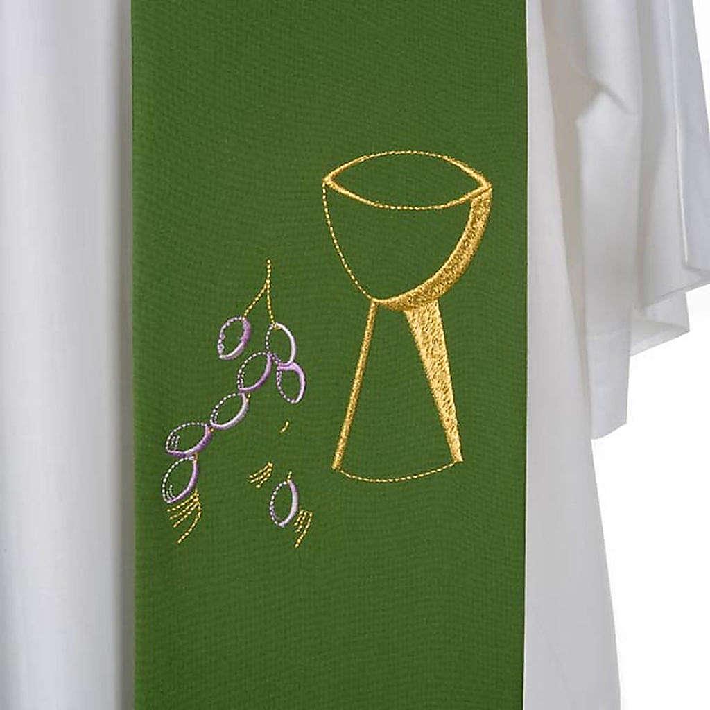 Étole de prêtre calice raisins 4