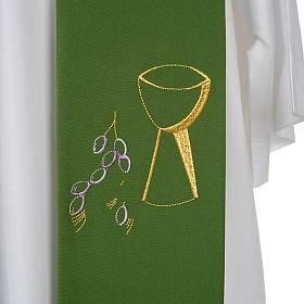 Étole de prêtre calice raisins s7