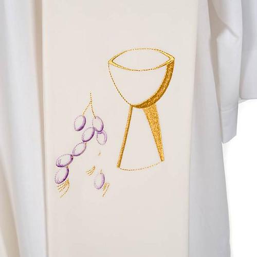 Étole de prêtre calice raisins 5