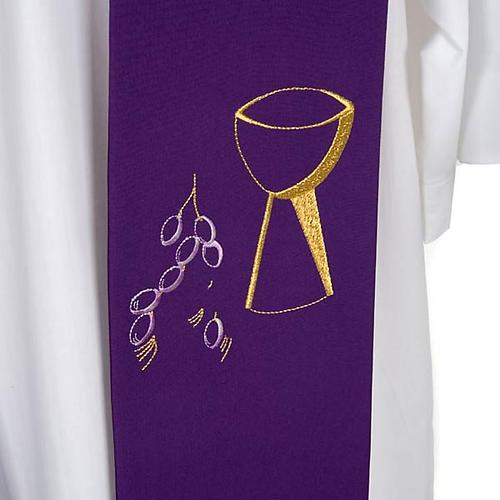 Étole de prêtre calice raisins 6
