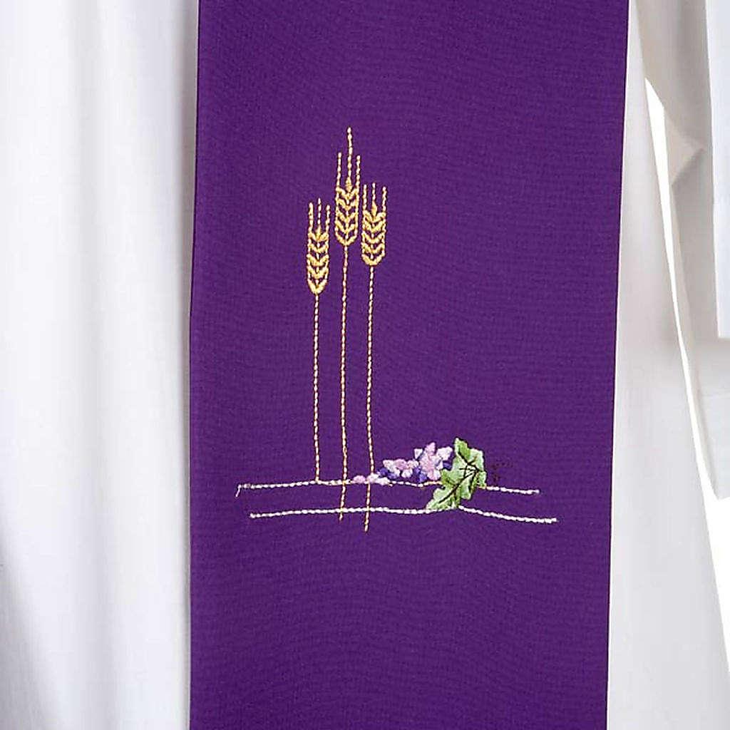 Stola sacerdotale spighe e uva colorata 4