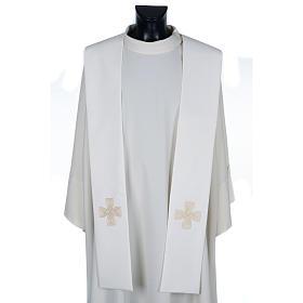 Priesterstolen: Stola mit goldenem Kreuz und Geflecht