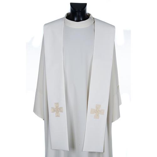 Stola mit goldenem Kreuz und Geflecht 1