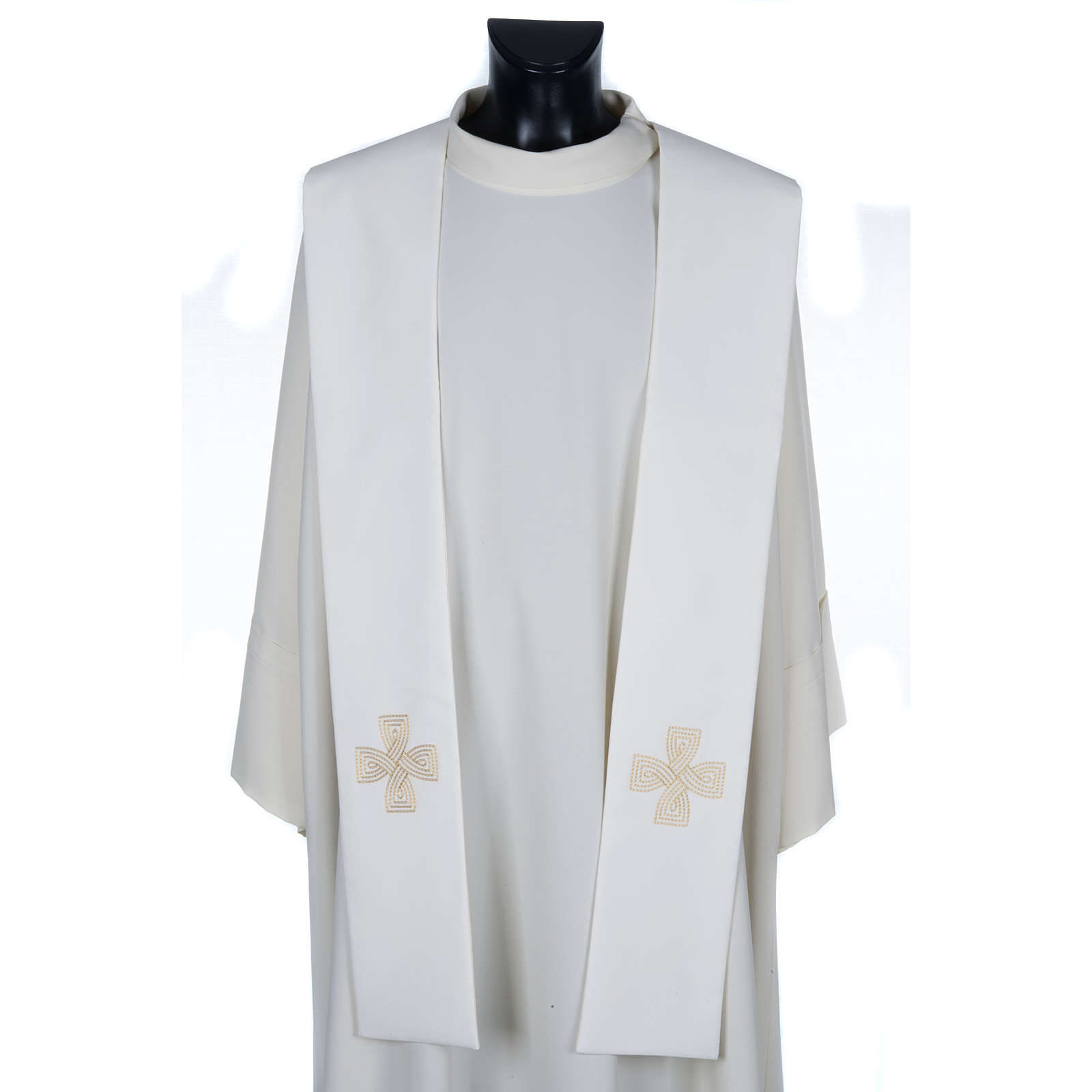 Étole de prêtre croix tressée 4