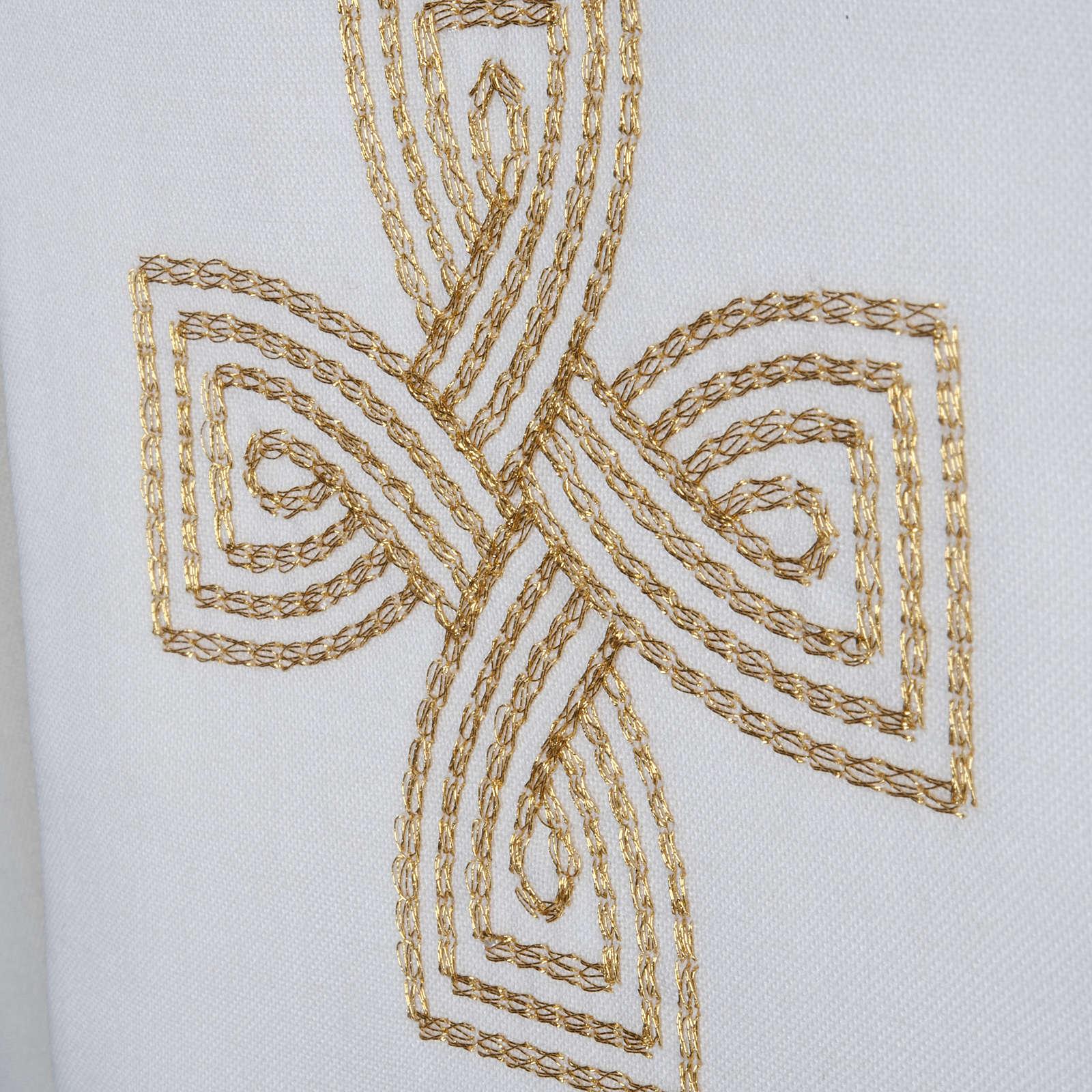 Stuła krzyż złoty pleciony 4