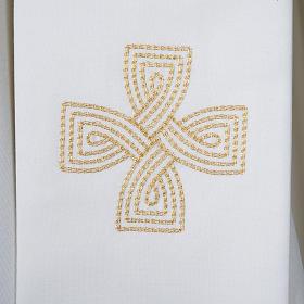 Estola cruz dourada e motivo entrelaçado s2
