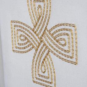 Estola cruz dourada e motivo entrelaçado s3