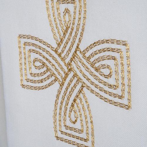 Estola cruz dourada e motivo entrelaçado 3