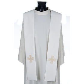 Clergy stoles: Priest Stole with golden cross and interlaced embroidery