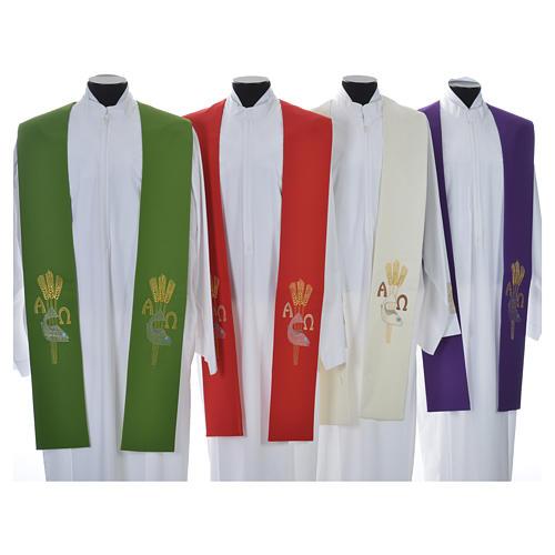 Étole de prêtre alpha oméga 7
