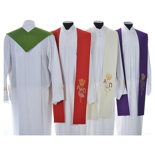Étole de prêtre alpha oméga 8
