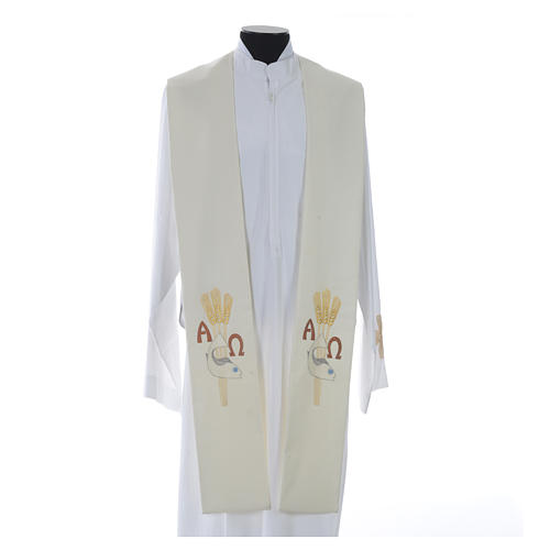Étole de prêtre alpha oméga 10