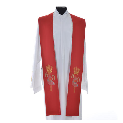 Étole de prêtre alpha oméga 11