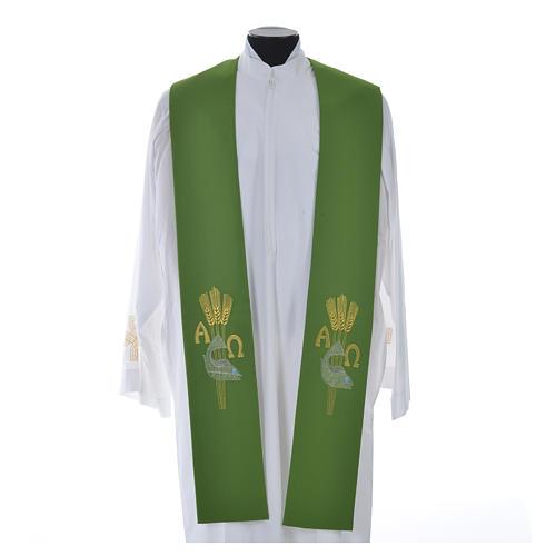 Étole de prêtre alpha oméga 12