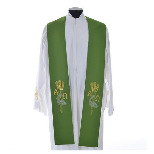 Étole de prêtre alpha oméga 6