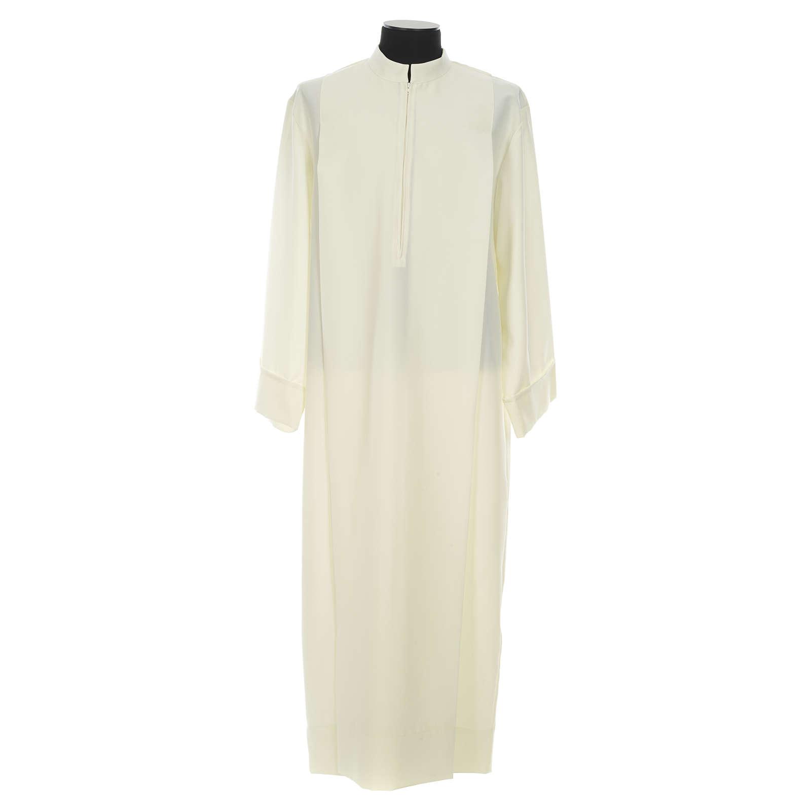 Étole de prêtre blanche croix 4