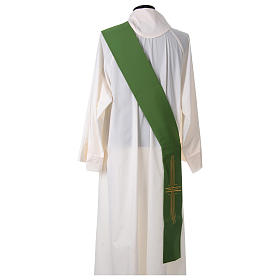Diaconal stole in polyester with cross s4