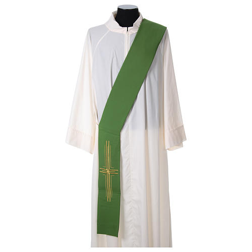 Diaconal stole in polyester with cross 1