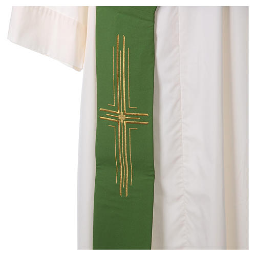 Diaconal stole in polyester with cross 2