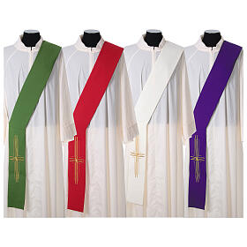 Stola diaconale poliestere croce s1