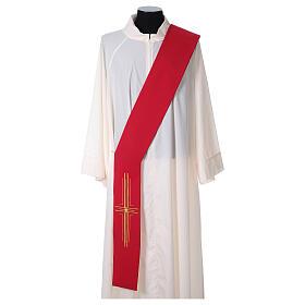 Stola diaconale poliestere croce s4