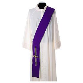 Stola diaconale poliestere croce s6