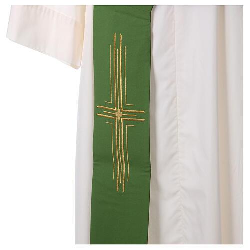 Stola diaconale poliestere croce 2