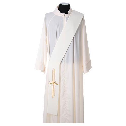 Stola diaconale poliestere croce 5
