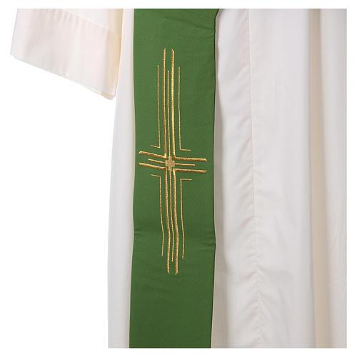 Stuła diakońska poliester krzyż 2