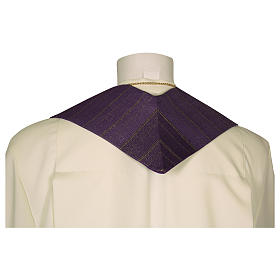 Clergy Stole in pure wool, stylized cross, double twisted yarn s5