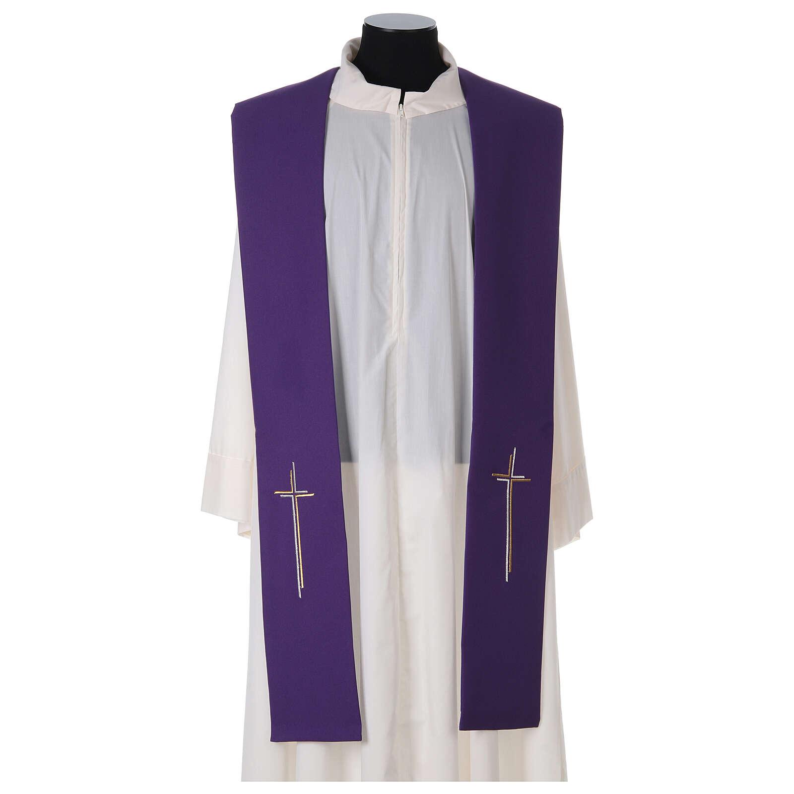 Stola croce stilizzata 100% poliestere 4