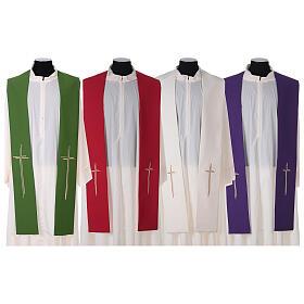 Stola croce stilizzata 100% poliestere s1