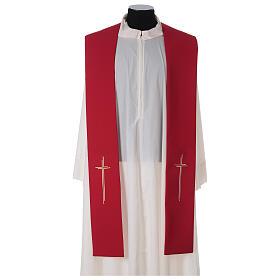 Stola croce stilizzata 100% poliestere s3