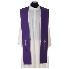 Stola croce stilizzata 100% poliestere s7